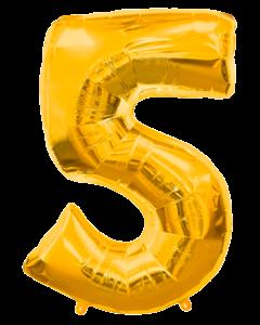 Цифра пять золото