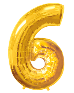 Цифра шесть золото