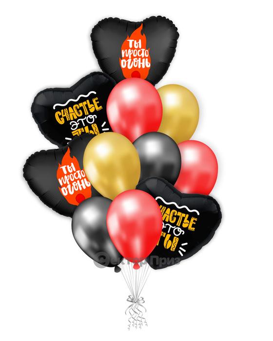 «Дорогому человеку» — шары с гелием. 15 шт.