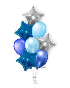 «Букет Звезда» — шары с гелием. 12 шт.