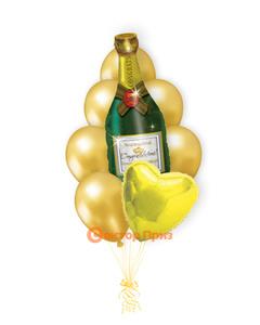 «Шампанское» — шары с гелием. 12 шт.