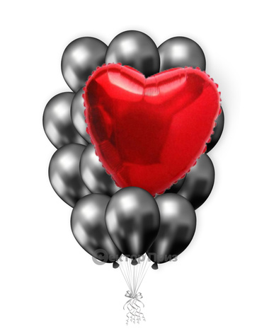 «От всего сердца» — шары с гелием. 21 шт.