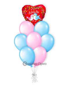 «Голубки» — шары с гелием. 12 шт.