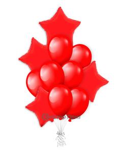 «Рубиновое сияние» — шары с гелием. 15 шт.
