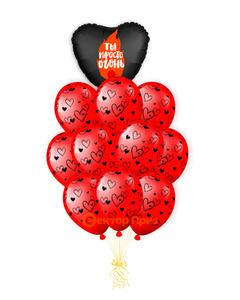 «Пламенное сердце» — шары с гелием. 14 шт.