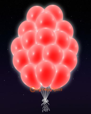 Красные светящиеся шары