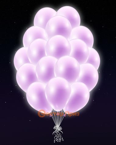 Сиреневые светящиеся шары