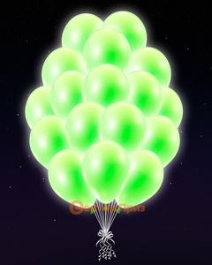 Персиковые светящиеся шары