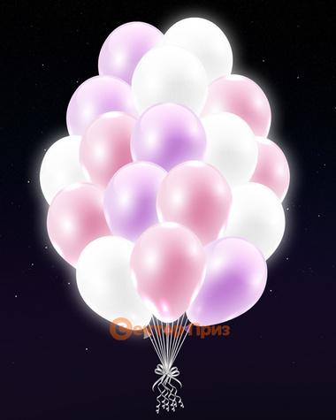 Нежные светящиеся шары