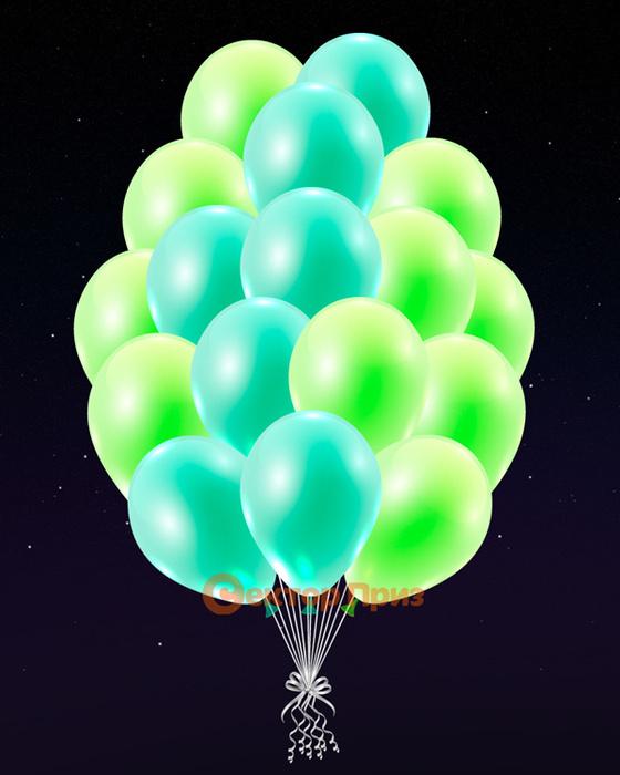 Зеленые светящиеся шары