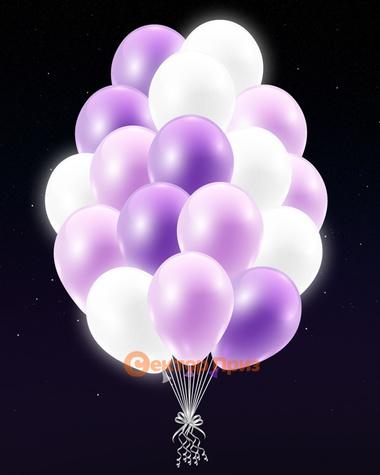 Фиолетовые светящиеся шары