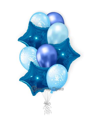 «Букет на выписку для мальчика» — шары с гелием. 15 шт.