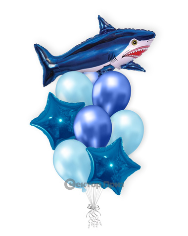 «Акула» — шары с гелием. 12 шт.