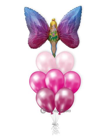 «Леди Бабочка» — шары с гелием. 12 шт.