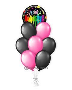 «С Днем рождения №6» — шары с гелием. 12 шт.