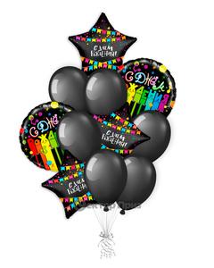 «С Днем рождения №8» — шары с гелием. 15 шт.