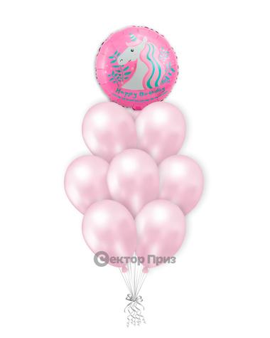 «С Днем рождения №13» — шары с гелием. 12 шт.