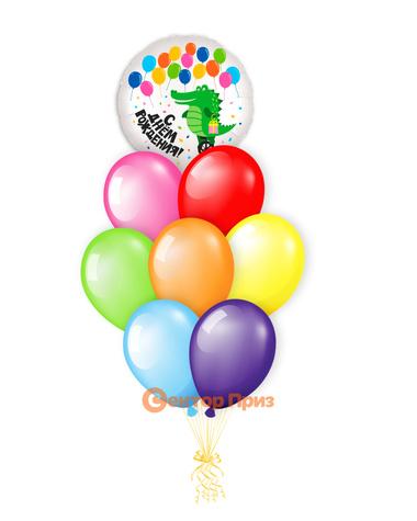 «С Днем рождения № 16» — шары с гелием. 12 шт.