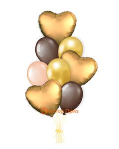 «Влюбленным № 1» — шары с гелием. 12 шт.