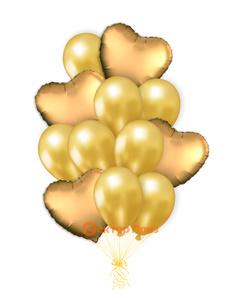 «Влюбленным № 2» — шары с гелием. 20 шт.