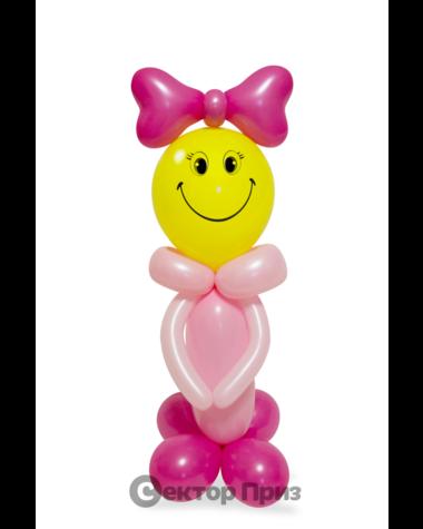 Фигура из шаров «Смайлик-девочка»