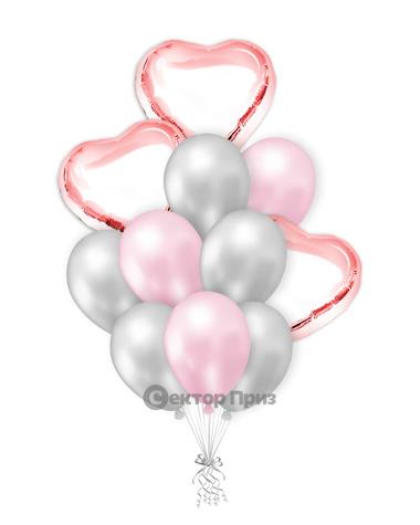 «Влюбленным № 3» — шары с гелием. 15 шт.