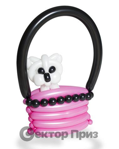 Фигура из шаров «Собачка в сумке»