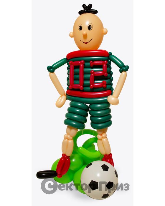 Фигура из шаров «Футболист Локомотив»