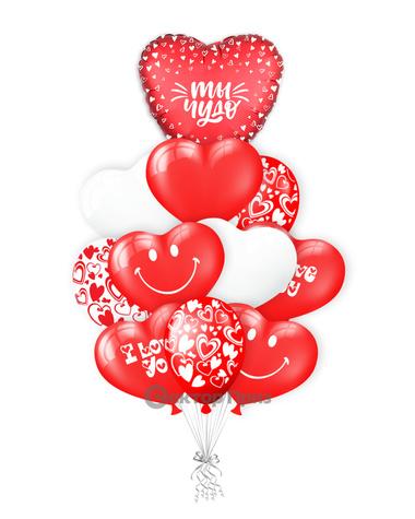 «Любимое чудо» — шары с гелием. 15 шт.