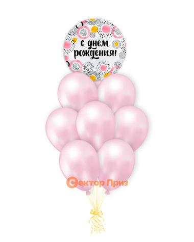 «С Днем рождения № 17» — шары с гелием. 12 шт.
