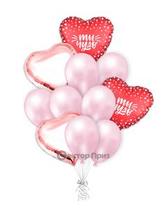 «Влюбленным № 4» — шары с гелием. 15 шт.