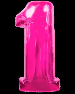 Цифра один розовая