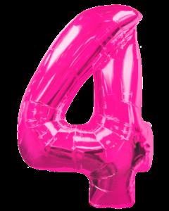 Цифра четыре розовая