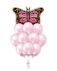 «Бабочка монарх» — шары с гелием. 15 шт.