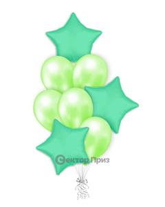 «Мятный букет» — шары с гелием. 12 шт.