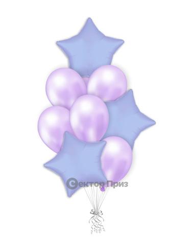 «Лавандовый букет» — шары с гелием. 12 шт.