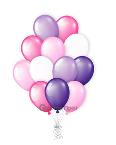 «Букет шаров №4» — шары с гелием. 20 шт.