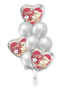 «Влюбленным №5» — шары с гелием. 12 шт.