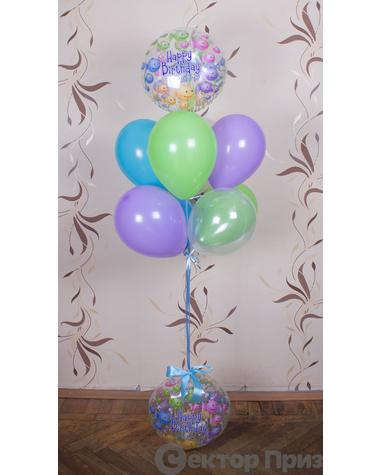 «Рыбки на день рождения» — шары с гелием. 10 шт.