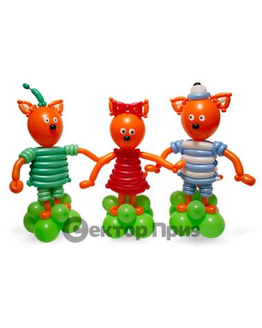 Фигуры из шаров «Три кота»