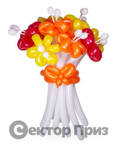 «Букет ромашек №8» — 11 цветов из шаров