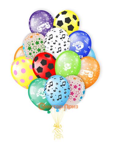 «Букет шаров №6» — шары с гелием. 21 шт.