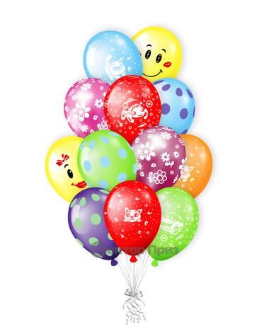 «Букет шаров №7» — шары с гелием. 15 шт.