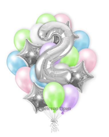 «Шары на два года №1» — шары с гелием. 27 шт.