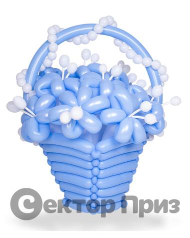 Корзина из шаров с цветами №10
