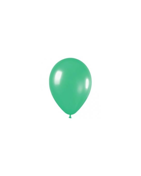 Шары ненадутые, Шар с воздухом зеленый, 30 см. (030)