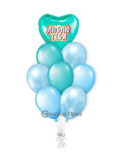«Влюбленным №7» — шары с гелием. 12 шт.