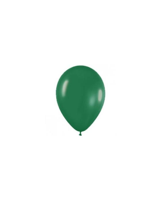 Шар с воздухом темно-зеленый, 30 см. (032)