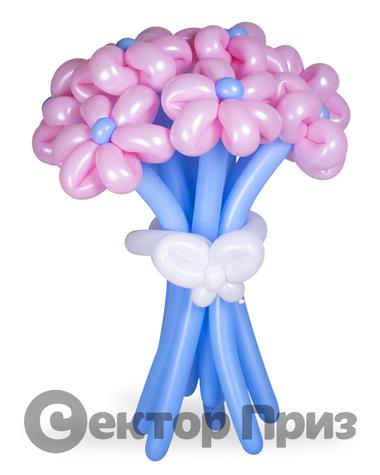 «Букет ромашек №10» — 15 цветов из шаров