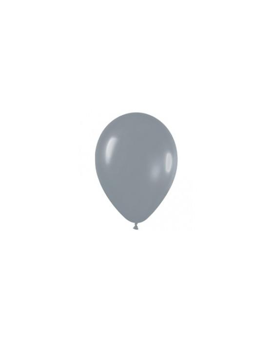 Шар с воздухом серый, 30 см. (081)